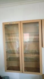 4 piece units display cabinate, tv stand for sale