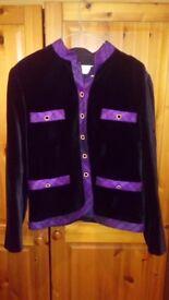 Vintage French Velvet Coat size 10-12