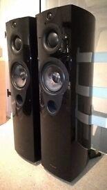 Wharfedale Opus 1 Floorstanding Stereo Speakers Black (Pair). '