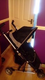 Excellent condition zia x petite star pushchair with raincover