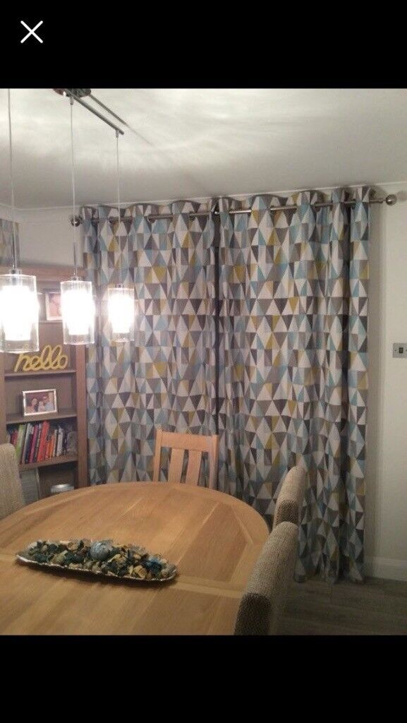Next Geometric Patterned Curtains