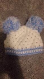 New born double Pom hat brand new