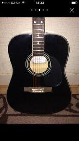 Details about Stretton Payne Grand Auditorium Electro Acoustic Guitar Blackl
