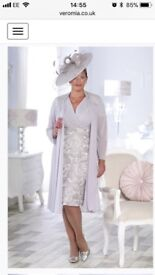 Beautiful mother of the bride/groom outfit. Coat, dress, hat
