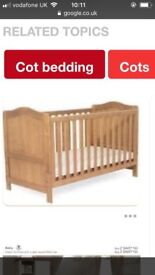 Addington cotbed with mattress with zip off waterproof section for sale (current configuration bed)