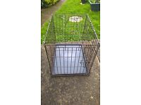 Folding Two Door Dog Cage