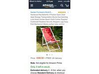 Hardwood 4 postion deck chair