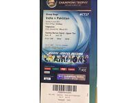 Champions trophy ticket - India vs Pakistan