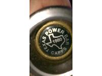 TEXAS POWER BAR + York Olympic weights.