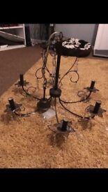 R.V Astley large 6 arm/branch brown chandelier