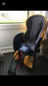 Toddler bike seat.