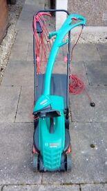 Bosch rotak 320 lawnmower and strimmer