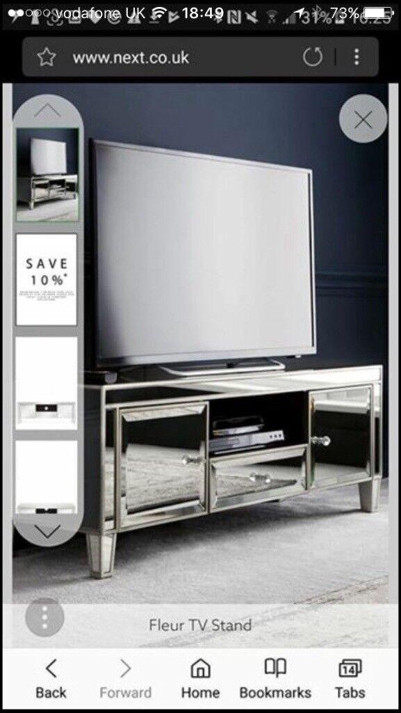 Next Mirrored Tv Unit Console