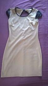 lovely dress, bow, open back, S size