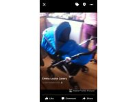 Warfare blue pram immaculate condition everything included even bag