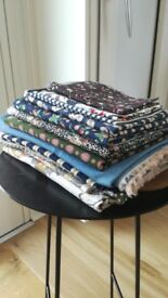 Cotton lawn and poplin scraps/fat quarters for quilting or craft