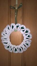 Handmade Crochet Christmas Wreaths