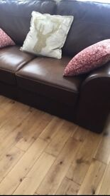 Brown Leather Sofa from Next