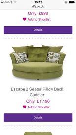 Dfs snuggle sofa amazing quality