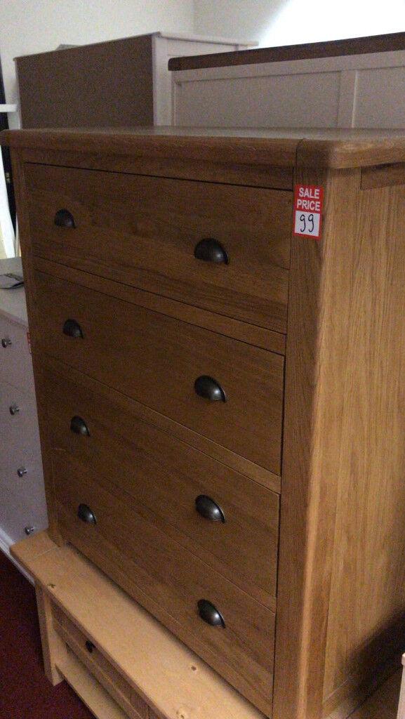 kent 4 drawer chest solid oak