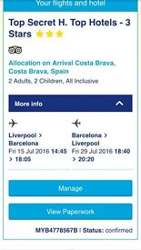 All inclusive holiday to Spain for 4 2 weeks