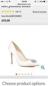 Jenny Packham No1 designer wedding shoes size 6