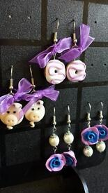 Earrings Faux and Fimo (material) 5£ per pair