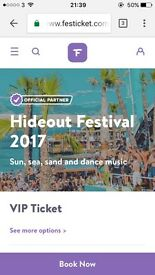 2 VIP HIDEOUT TICKETS