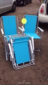 x6 blue garden/emergency Christmas Chairs - £20 - CAN DELIVER for extra £3