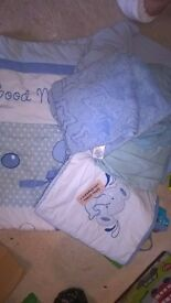 cot set, sheets and blankets