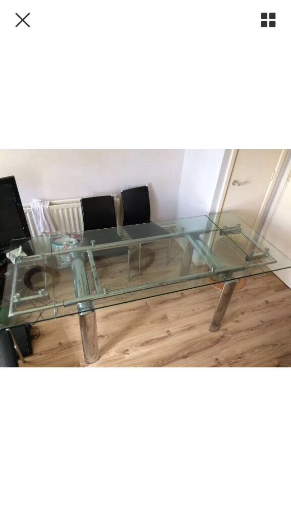 6 seats Glass Table