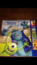 Disney Monsters inc book with sounds etc