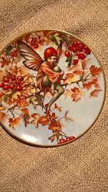 "Hawthorn Fairy, Decorative ""Flower Fairies Year"" Plate, by Cicely Mary Barker"