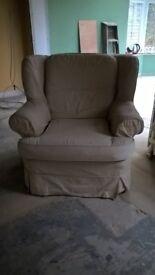 Light beige arm chairs
