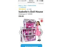 Girls doll house from smyths