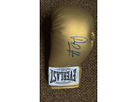 David Haye signed glove everlast, COA