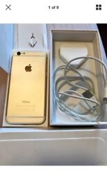 Apple iPhone 6 16gb UNLOCKED Incl Charger lead and plug sim pin and box