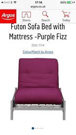 Single metal action futon