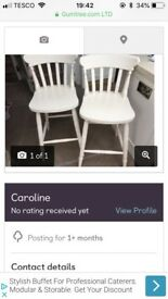 Cream bar stools
