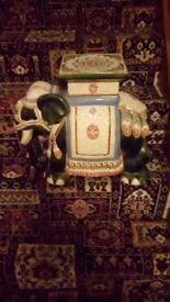 Indian design Elephant Ornament~ garden seat/plant pot holder