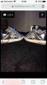 Metallic heelys New