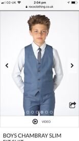 Boys Chambray Paisley of London suit, Age 9