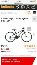 Boys Carrera Bike. Pick up Wallasey