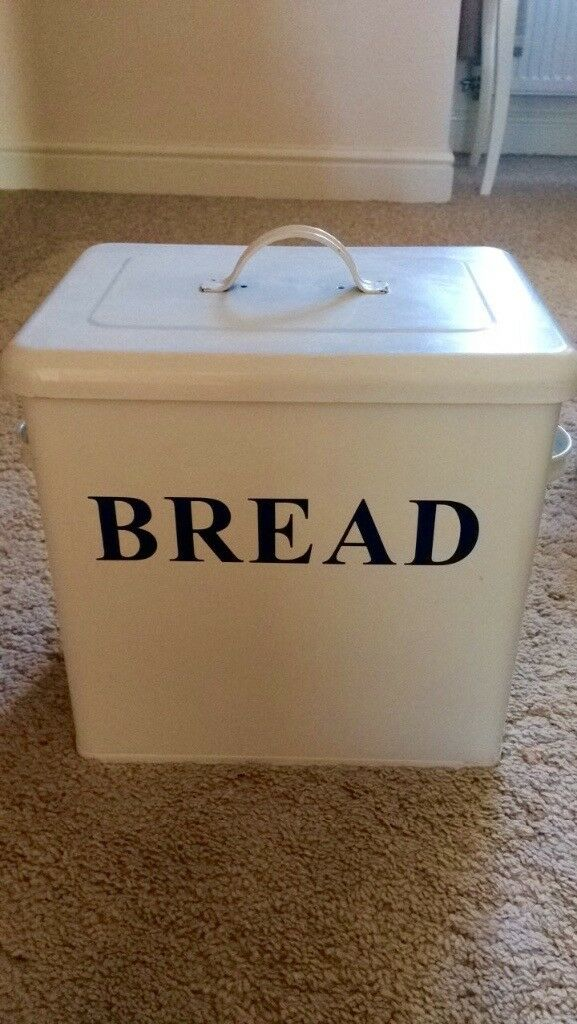 Large metal bread bin