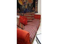 Beautiful Red Fabric Sofa, inc. Cushions