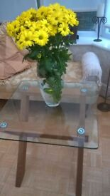 Glass top side/occasional table