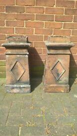 reclaimed chimney pots (x7)