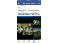 4 alloy wheels £80