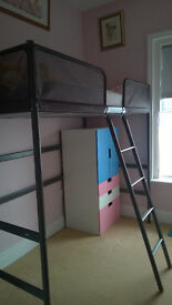 Excellent condition single loft bed from IKEA, almost new, can deliver locally for free.