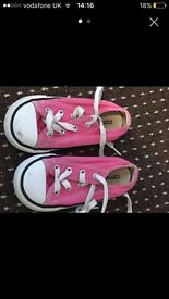 Pink converse infant 7